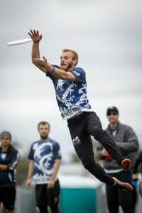 Drag'n Thrust's Jay Drescher in the 2016 Club Championships semifinals. Photo: Paul Andris -- UltiPhotos.com