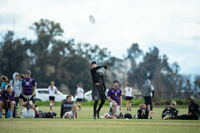 UNC's Matt Gouchoe-Hanas celebrates a goal at the 2019 Stanford Invite.