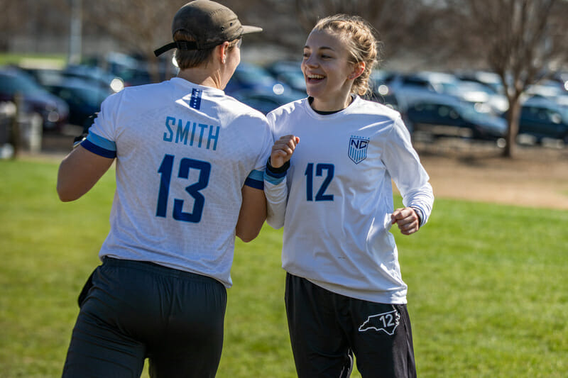 Tyler Smith and Ella Juengst have helped North Carolina Pleiades get off to a flying start in 2020. Photo: Katie Cooper -- UltiPhotos.com