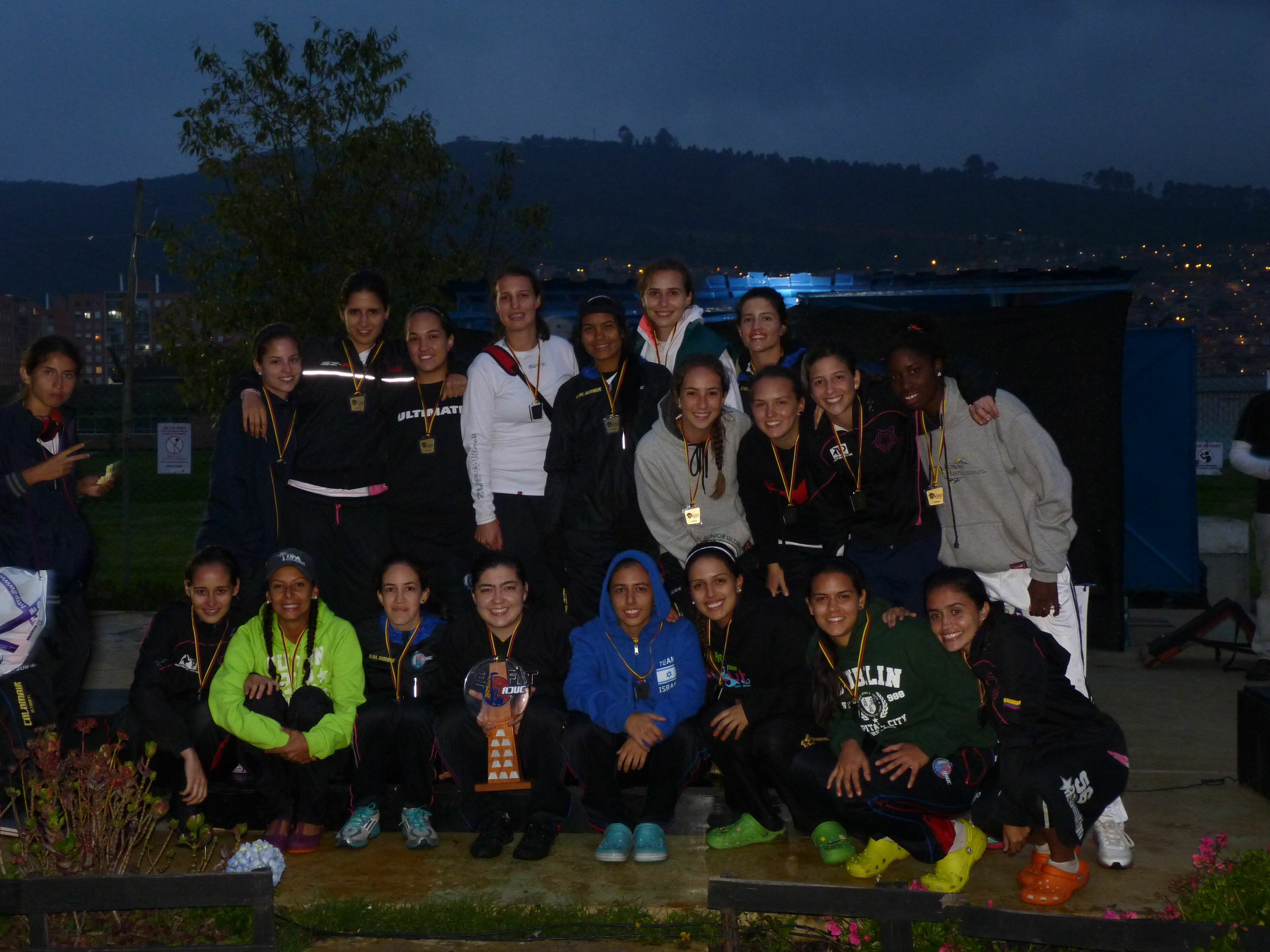 Medellin's Revolution poses for a picture after winning the 2012 AJUC Colombian Nationals.