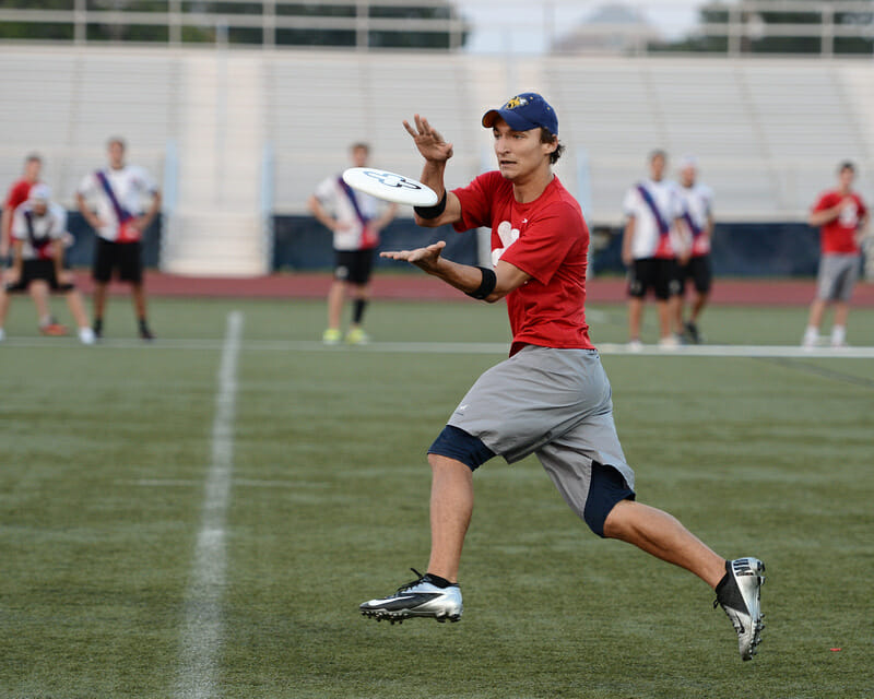 NexGen's Nick Lance catches the disc against Truck Stop.