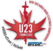 The 2013 WFDF U23 logo.