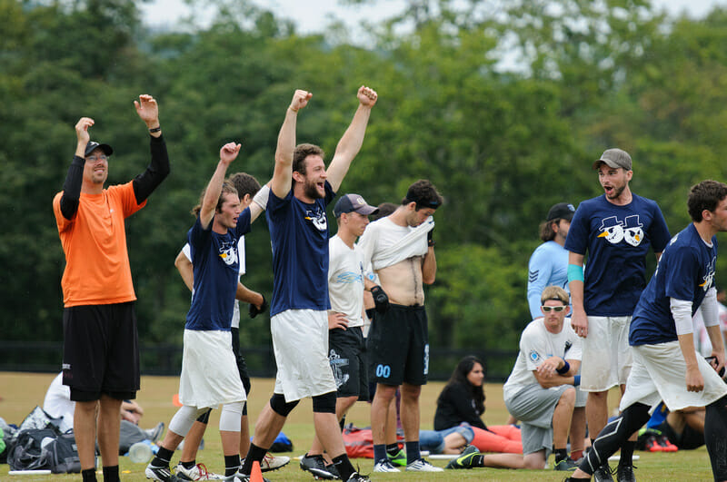 Minneapolis Sub Zero celebrates after winning the 2013 Chesapeake Invite.