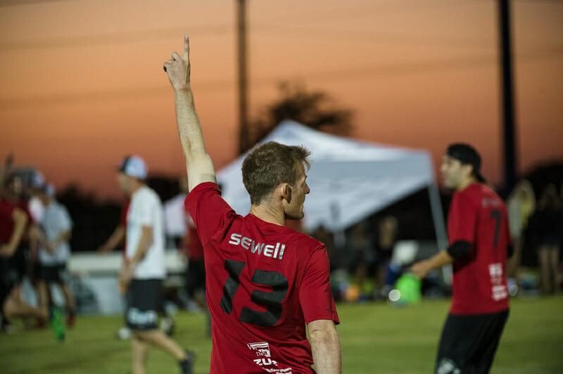 "Seattle Sockeye's Matt ""Skip"" Sewell celebrates at the 2013 Club Championships."