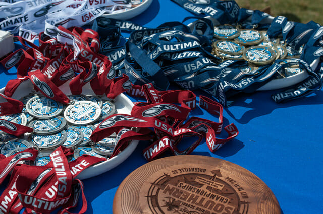 Trophies at the 2014 Southern Regional High School Championships.