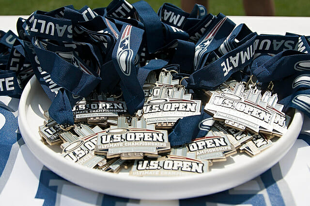 The 2014 US Open medals.