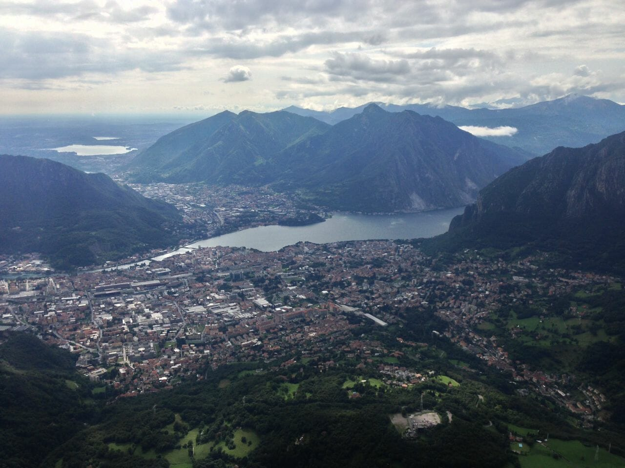 lecco from a mountain top