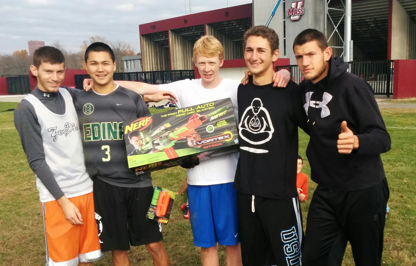 The winning UMass players after their field day.