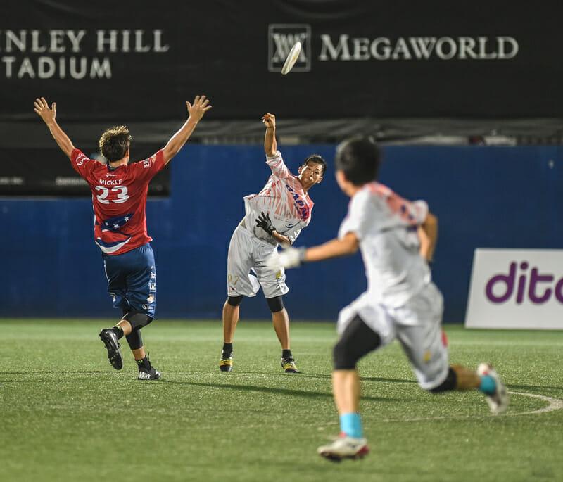 Team E.R.I.C. vs. Team Japan at Manila Spirits 2015. Photo: Brian Canniff -- UltiPhotos.com