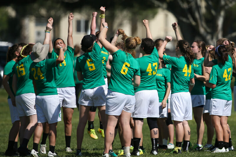 Oregon Fugue is on track to win Stanford in 2016, just as they did in 2015. Photo by Rodney Chen - UltiPhotos.com