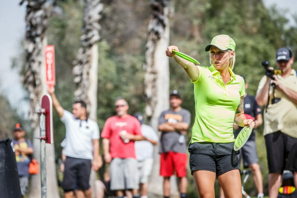 Catrina Allen was the only female participant in the Disc Golf World Tour's first stop. Photo: Stu Mullenberg -- TheFlightRecord.com