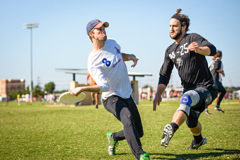 Peter Prial and Nick Stuart at the 2015 USAU Club Championships. Photo: Paul Andris -- UltiPhotos.com