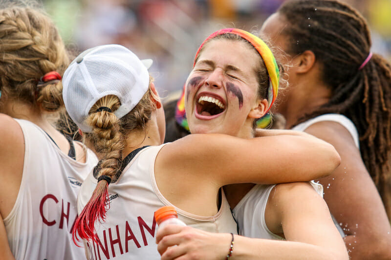 Superfly celebrates their semifinal victory. Photo: Paul Rutherford -- UltiPhotos.com