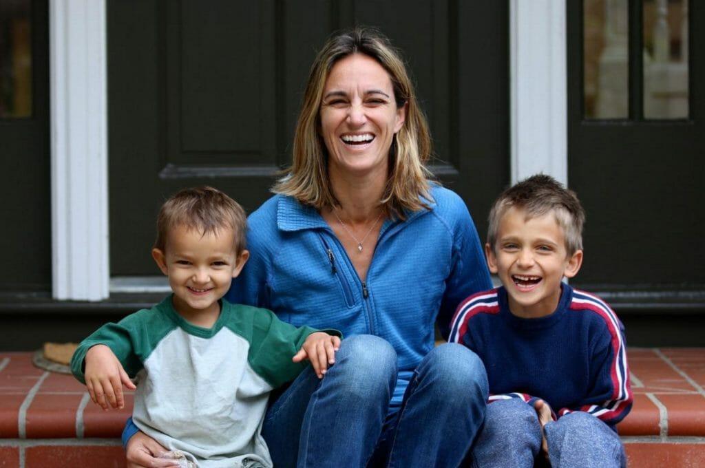 Sam, Rylan (7), and Spencer (4) ham it up