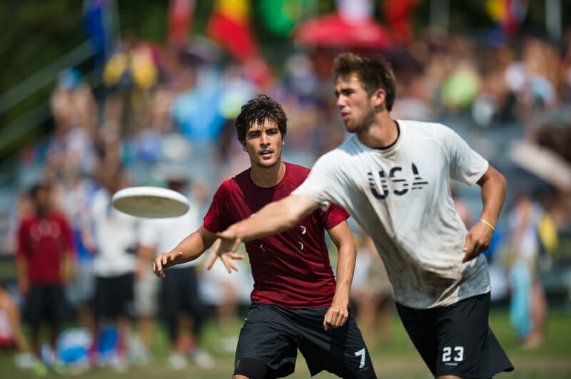 Jimmy Mickle and Russell Wynne are two of the many weapons the US will have to deploy at WUGC in London. Photo: Kevin Leclaire -- UltiPhotos.com
