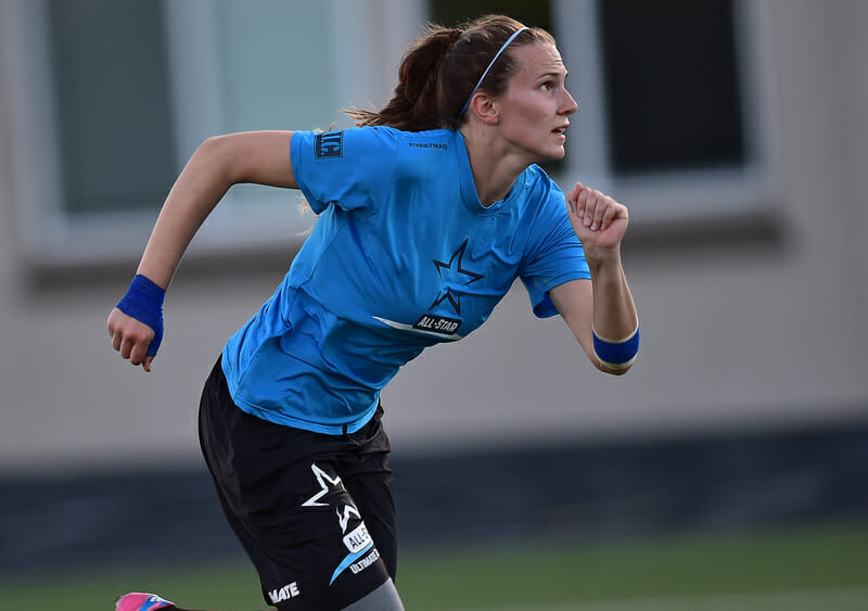 Qxhna Titcomb during the 2015 All-Star Ultimate Tour. Photo: Scobel Wiggins -- UltiPhotos.com