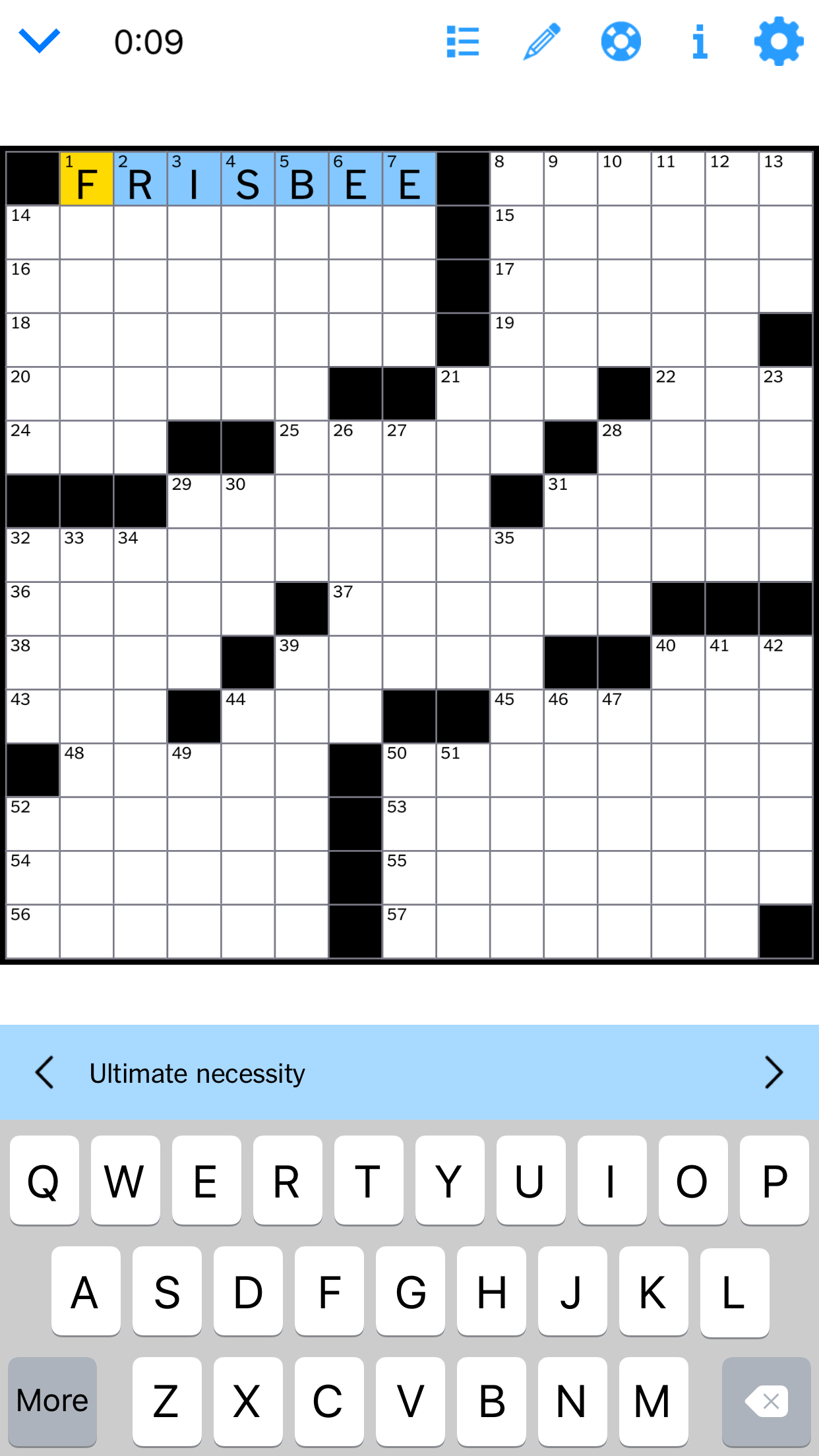 Ultimate Letter Crossword